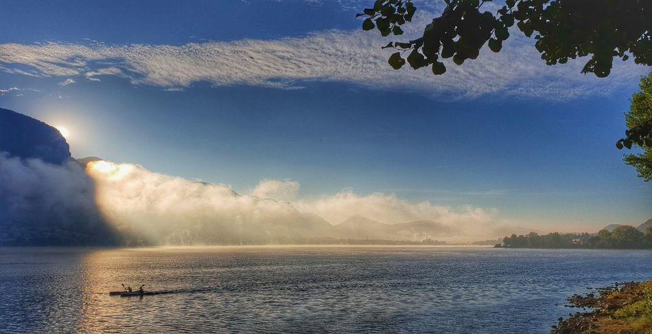 bourning sun... Sunrise Lake Como Lake Lago Di Como, Italy Italy Lago Lake Sun Alba Sul Lago Samsung Photography S9 Water Mountain Tree Lake Sky Landscape Cloud - Sky Foggy Horizon Over Water My Best Travel Photo
