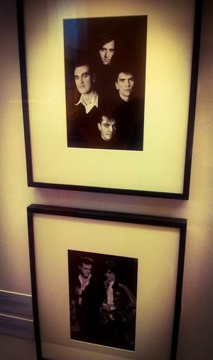 There's an exhibition of The Smiths early photographs at The Lowry.. I've bootlegged a bit. The greatest rock an' roll band of all time (as well as New Order and The Clash) certainly in my personal favourite top 3. The Smiths Morrissey Johnny Marr Music Photography Exhibition Manchester Music Rock Indie The Lowry Salford Manchester
