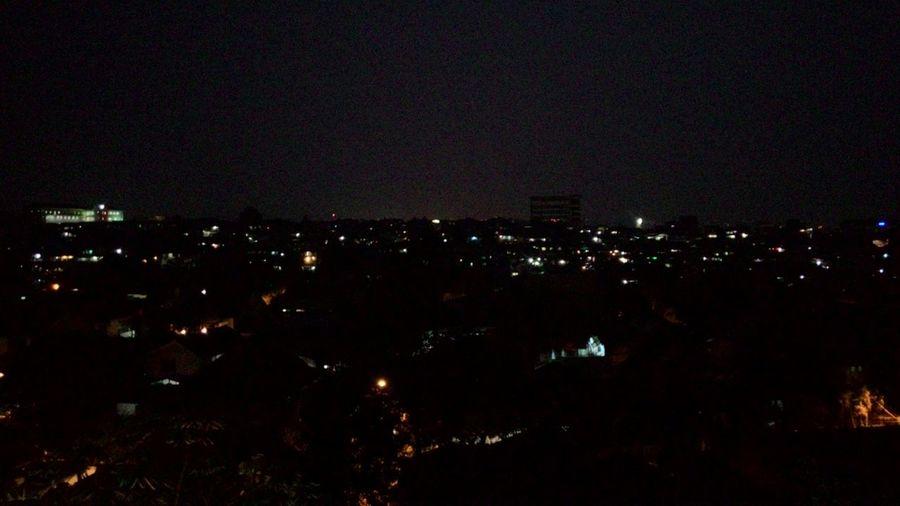 Pemandangan area pemukiman belakang Masjid Raya Bogor Nightphotography Hometown Night Lights Nofilter#noedit