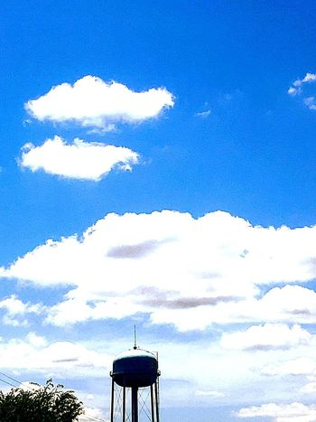 Water tower Sky Cloud - Sky Low Angle View Blue Day Architecture Nature
