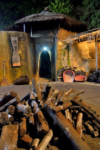 Making kiln-fired charcoal is a traditional handicraft industry. Charcoal Kilns In The Dark Hot Industry Toilet Tradition Architecture Black Built Structure Burn Wood Charcoal Damaged Day Economic Give Kiln Labor Force No People Outdoors Work Hard