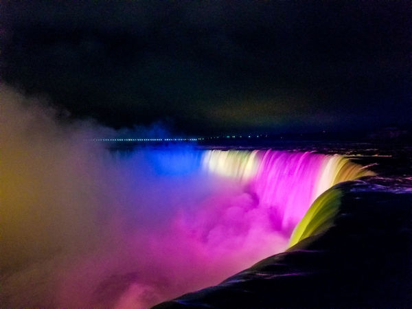 Table Rock Table Rock Niagara Falls Ontario Canada Long Exposure Night Multi Colored Water Nature Sky Beauty In Nature
