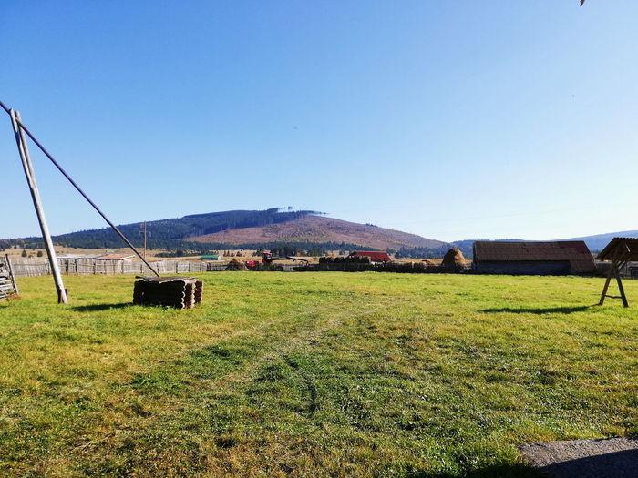 Romania Green Silence Irrigation Equipment Agriculture Sky Farmland Farm Barn