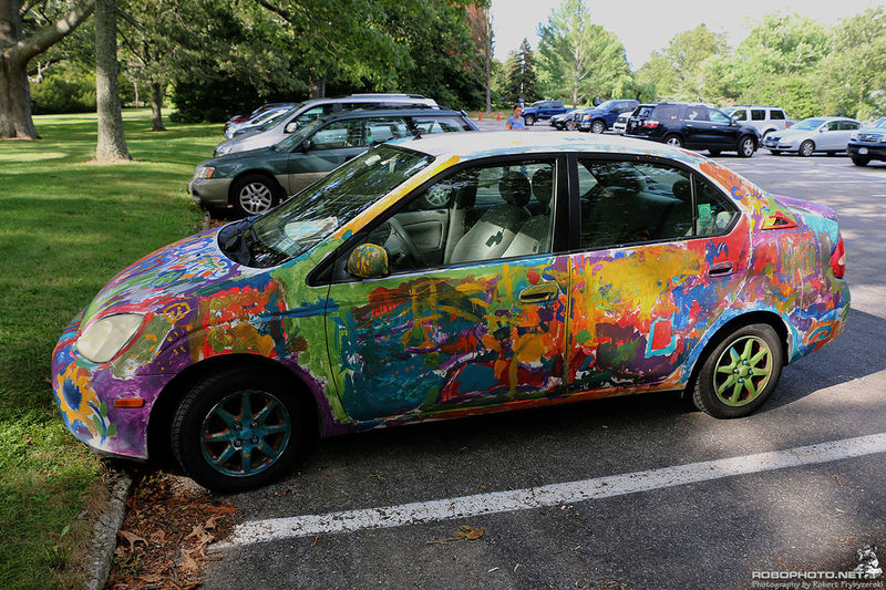 I really want to do this to my Jeep. Art Car Finger Painting Taking Photos