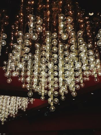 Hanging Balls of Lights Illuminated No People Shiny Indoors  Close-up Architecture Low Angle View