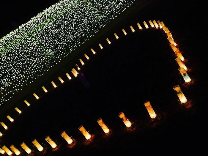 ライトアップ Light Light Up ナイト Night 沖縄 Okinawa 日本 Cute カラフル 可愛い Japan ろうそく 蝋燭 キャンドル Candle