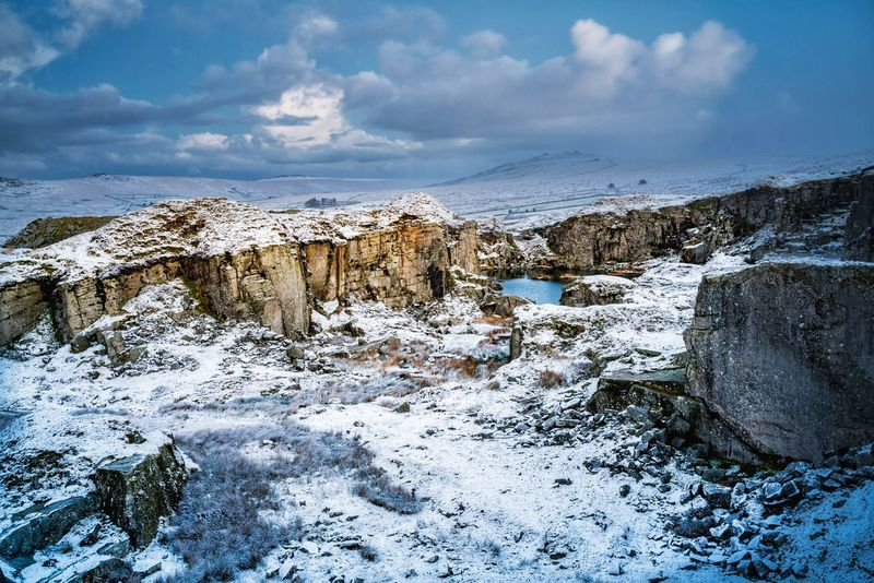 Cloud - Sky Outdoors Sky Day No People Nature Horizon Over Water Sea Landscape Beauty In Nature Landscape_photography Dartmoor National Park Tranquility Frozen Scenics Winter Nature Beauty In Nature Cold Temperature Snow sony a7RII