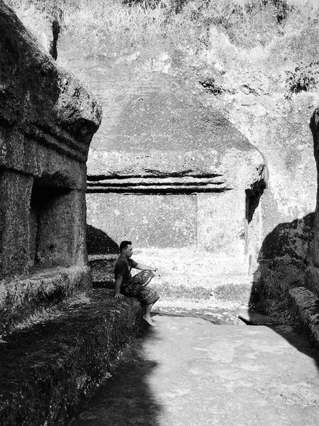 Built Structure Architecture Sky Nature Water Balinese Bali, Indonesia Gunungkawi Travelling Black And White Blackandwhite Photography