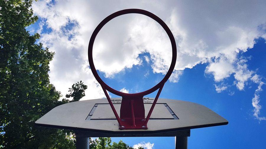 Circle Basketball - Sport Cloud - Sky Basketball Hoop Day Tree No People Outdoors Backboard Streetball Rim Sport Photography