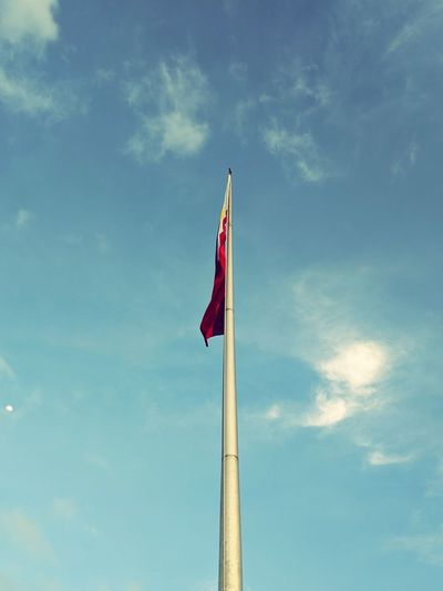 Flag of the Philippines The Mobile Photographer - 2019 EyeEm Awards Patriotism Blue Flag Sky National Icon Flag Pole National Flag Identity Symbolism Pole Waving Stars And Stripes Sky Only Architectural Column Fluttering The Minimalist - 2019 EyeEm Awards