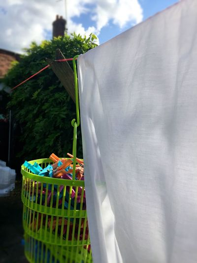Sunny Warmth Sunshine White Shirts Washing Day Sky Low Angle View Cloud Fabric Textiles Day Outdoors Pegs Laundry Day Laundry Line Laundry Pegs Home Is Where The Art Is