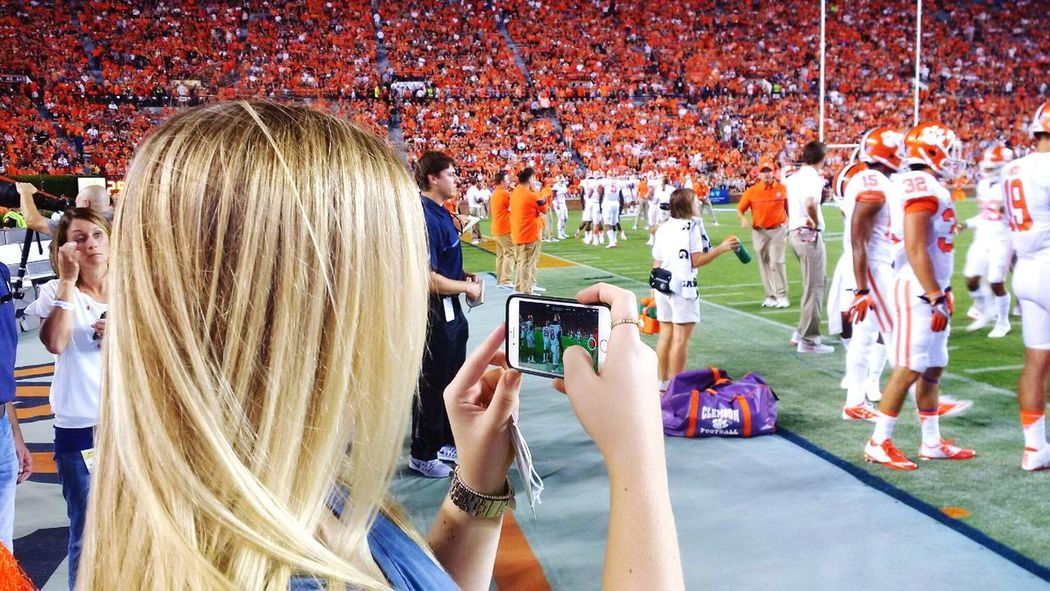 Competitive Sport Smart Phone Photographing Events Clemson Tigers Clemson Football Clemson University Photography Themes Football Sports