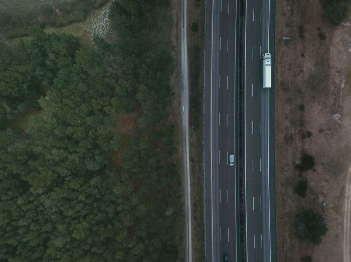 Tree Transportation Aerial View No People Road Day Outdoors Nature Sky