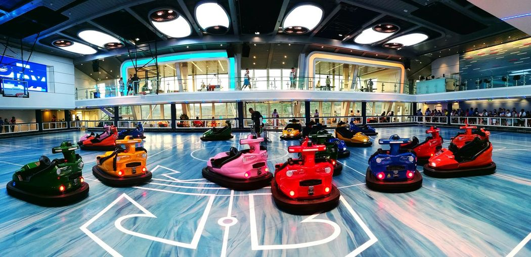 HuaweiP9PlusLeica Leica Bumpercars Seaplex RoyalCaribbean Ovation Of The Seas Activities Atsea Holiday Oneholidayendlessadventures Indoors  Cruise Cruise Ship