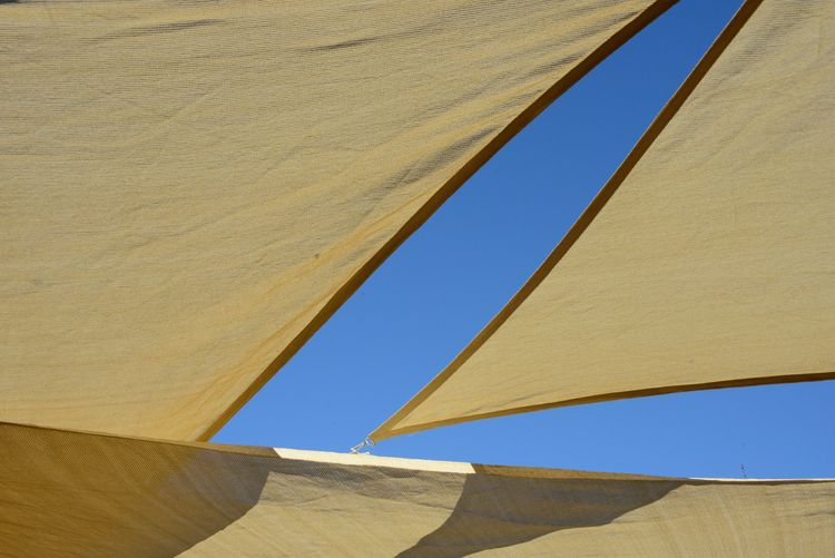 lines, shapes and colours Blu Sky Blue Clear Sky Close-up Colours Day Design Full Frame Light And Shadow Lines And Shapes Lines&Design Low Angle View Nature No People Outdoors Sail Sky