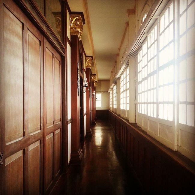 """Side hallway used by the """"alipin sa gigilid"""" or househelp who was not allowed to be seen by the owners of the house. Work Travel Lascasasfilipinasdeacuzar Colonialhouses history"""