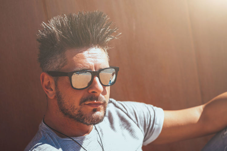 Glasses Headshot Eyeglasses  One Person Young Adult Real People Portrait Young Men Lifestyles Leisure Activity Indoors  Men Front View Beard Mid Adult Men Close-up Casual Clothing Mid Adult Males  Hairstyle