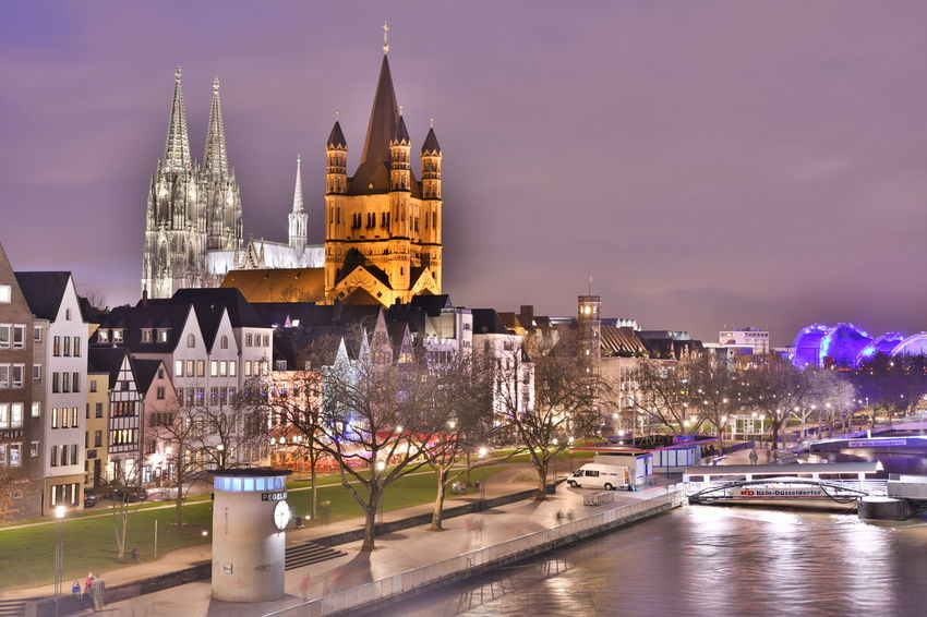 Cathedral Cologne Cologne , Köln,  Deutschland Köln Kölner Dom Architecture Building Exterior Built Structure Bulb Bulbphotography Bulbs City City Life Cityscape Cologne Cathedral Germany Illuminated Langzeitaufnahme Langzeitbelichtung Night No People Outdoors Travel Destinations Urban Skyline