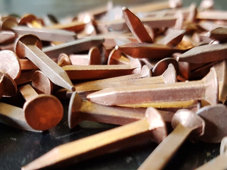 EyeEm Selects Copper  Nails Shipwright Boat Repair And Restoration Boat Repairs Nautical Closeup Close-up Macro Depth Of Field Old School Boats Vintage Boats wooden vessel Ship Repair Carpentry Woodworking Hand Built