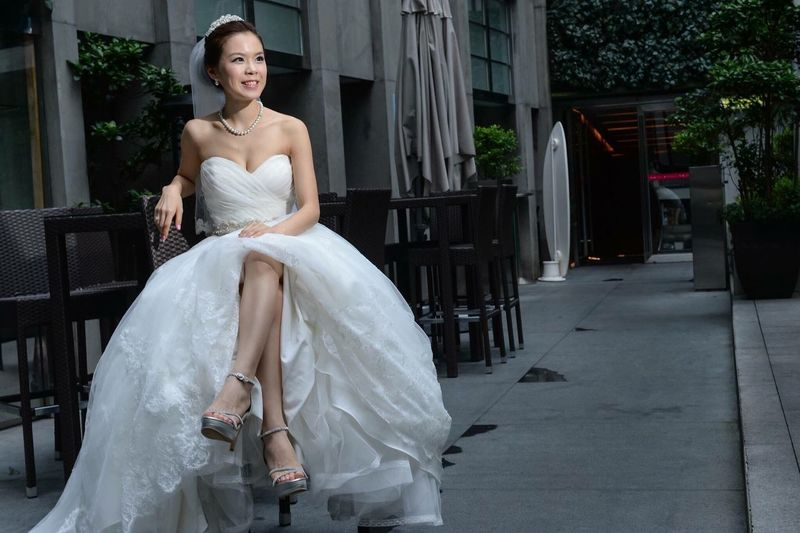 Waiting for my groom with beautiful smile Taking Photos HongKong Bride Photography Photographer Bride And Groom Wedding Day Check This Out Weddingparty Wedding Photography Weddingphotography Weddingphotographer Bigday Agallery Prewedding Engagement Photography Smile Beautiful Groom