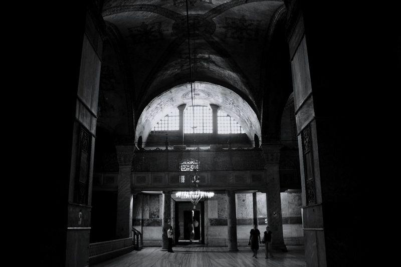 Hagia Sofia, Istanbul Monochrome Travel Black And White Turkey