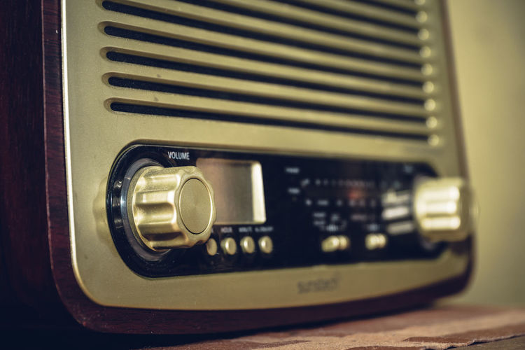 Retro Styled Indoors  No People Technology Close-up Music Radio Analogue Photography Old Old-fashioned Analog Audio Equipment Communication Arts Culture And Entertainment Number Knob Equipment Still Life Musical Instrument Vintage Control Antique Electrical Equipment Analogue Sound