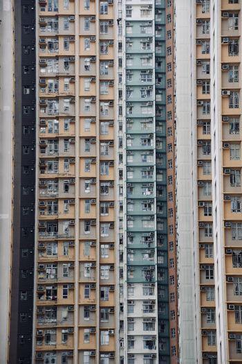 Windows of hong kong residential high rise