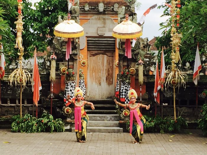 Architecture Bali, Indonesia Colorful Clothes Colors Cultures Dancing Oriental Style Traditions & Rituals Women