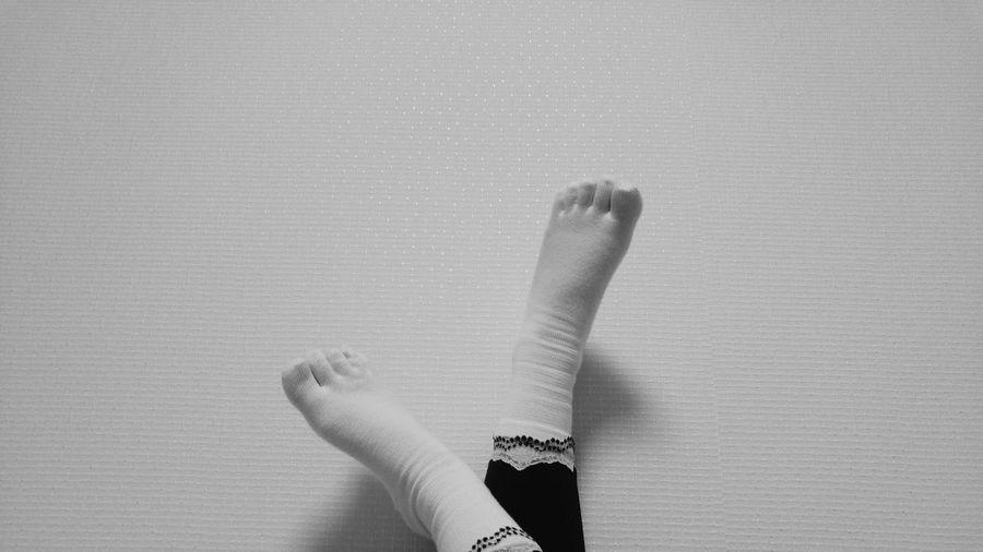 TK Maxx Socksie Indoors  Socks Foot Black & White Real People Human Body Part Day