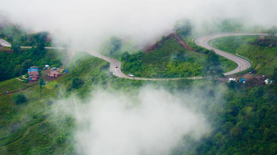 Beautiful road upon mountain.