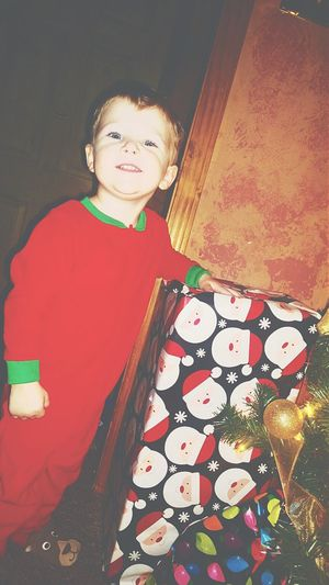 This is my adorable nephew from last christmas eve. I love him more than anything in the world. Brady Throwback Lovethispicture Likeforlike Follow4follow Christmastime2014 ???????