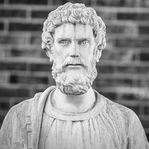 St. Peter always wins the staring contest. Go ahead, try :) Stpeter Lewiston Lewistonny Monochrome Blackandwhite Worldchampion