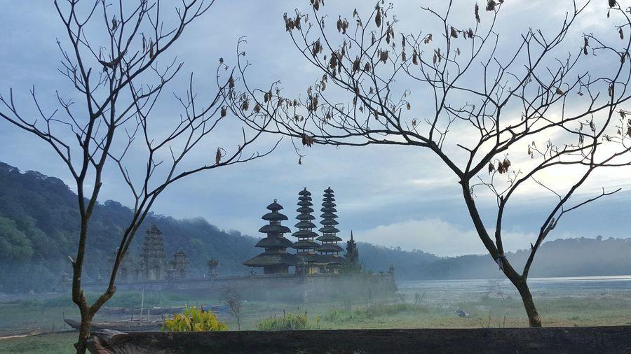 Pura Ulun Danu Tamblingan on Misty Morning Frame Fog Landscape Outdoors Beauty In Nature Pura Ulun Danu Tamblingan Tamblingan Bali, Indonesia EyeEm Selects Beauty In Nature Blue