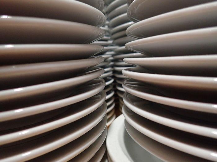 Close-up Eating Utensil Full Frame Indoors  Plate Porcelain  Restaurant Still Life White Color