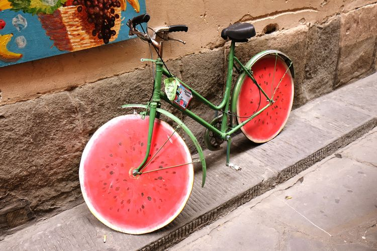 Bicycle retro melon