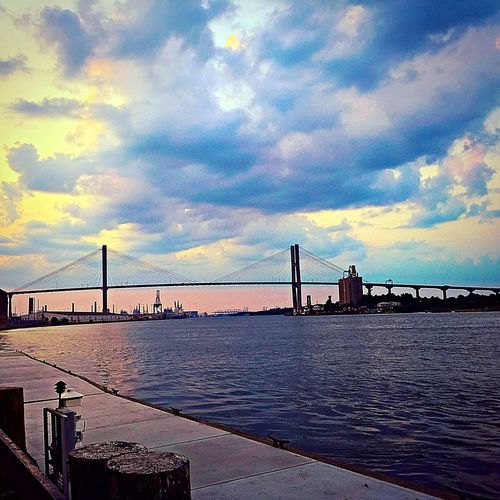 Talmadge Bridge EyeEm Best Shots Savannah Georgia Sunset_collection Summer Views Golden Hour Come see the things that I love to look at enjoy my day with me !