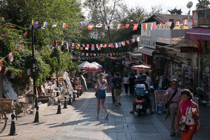Antalya Old Town Adult Architecture Building Exterior Built Structure City Crowd Day Group Of People Large Group Of People Market Men Nature Outdoors Plant Real People Retail  Street Street Market Transportation Tree Women