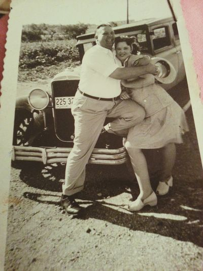 The Stone's First Eyeem Photo In Love Lovehappymomment Newlyweds Oldtimey Cutecouple Vintage Photo Old Car Old Photography