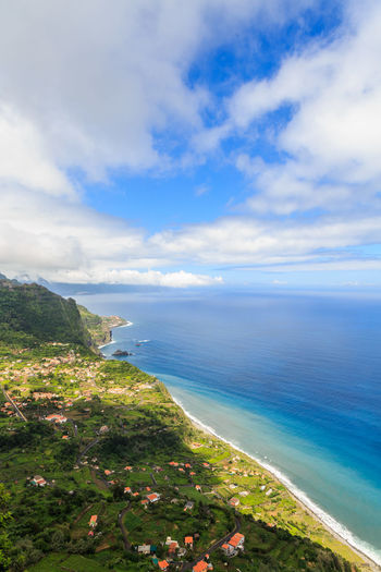 Cabanas, Madeira Islands, Portugal Arco De Sao Jorge Beach Beauty In Nature Blue Cloud - Sky Day Horizon Horizon Over Water Idyllic Land Nature No People Non-urban Scene Outdoors Plant Scenics - Nature Sea Sky Tranquil Scene Tranquility Water