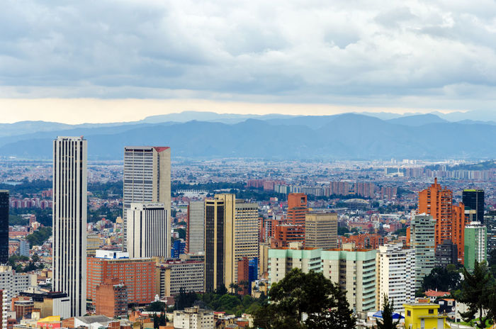 View of the skyline of Bogota, Colombia Architecture Bogotá Bogotá Colombia Building Business Capital Center City Colombia Colombian  Destination District Downtown Financial Latin Metropolis Outdoors Skyline Skyscraper Tourism Travel Urban View
