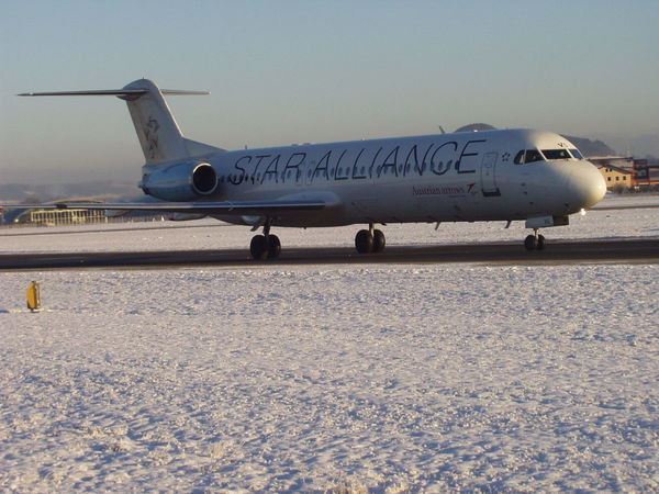 Air Vehicle Airplane Airport Runway Charter Charter Plane Flugzeug No People Salzburg Airport Star Alliance Transportation
