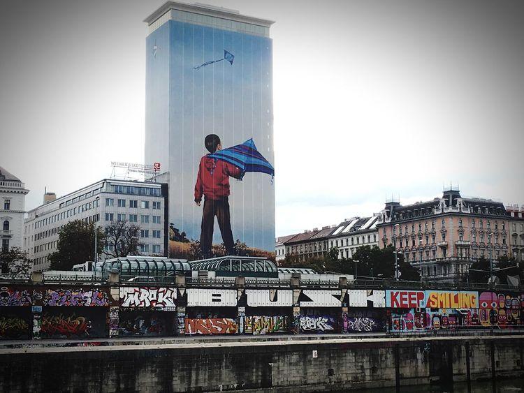 Flying A Kite Boy Building Keepsmiling