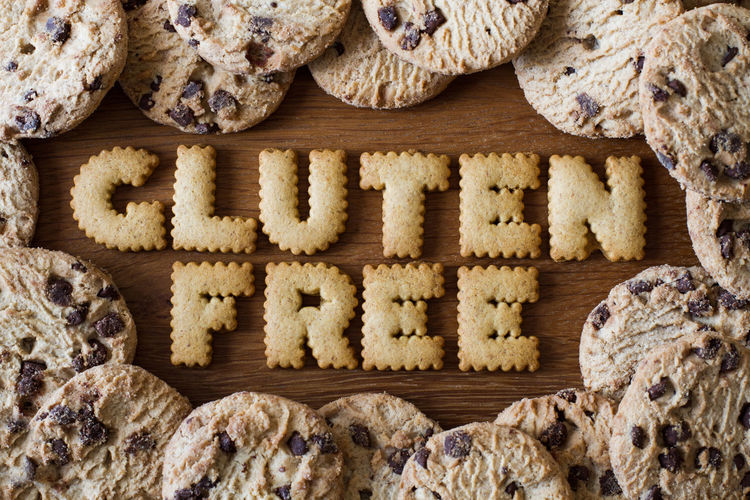 Gluten Free Text Made Out Of Cookies