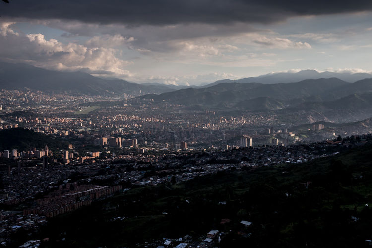 Medellín Medellin City Medellin Colombia Colombia Cityscape City Building Exterior Architecture Sky Mountain Cloud - Sky Built Structure Nature No People Mountain Range Building High Angle View Environment Beauty In Nature Scenics - Nature Outdoors TOWNSCAPE