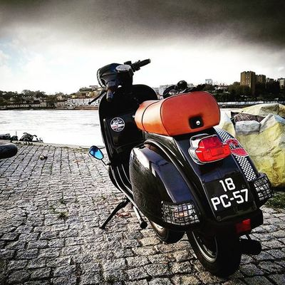 Vespa Vespagram Bike Bikeride Lml200 Lml Biltwell Afternoonride Porto Gaia City Sun Sea River Sunset Nature Naturelovers Colorful Colors Shooters_pt