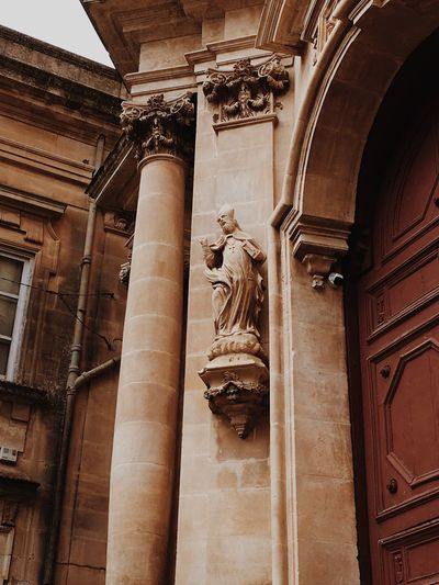 EyeEmBestPics EyeEmNewHere Ragusa Ibla, Sicily Sicily Architecture Built Structure History The Past Architectural Column Low Angle View Arch No People Travel Destinations Spirituality Place Of Worship Art And Craft Building Exterior