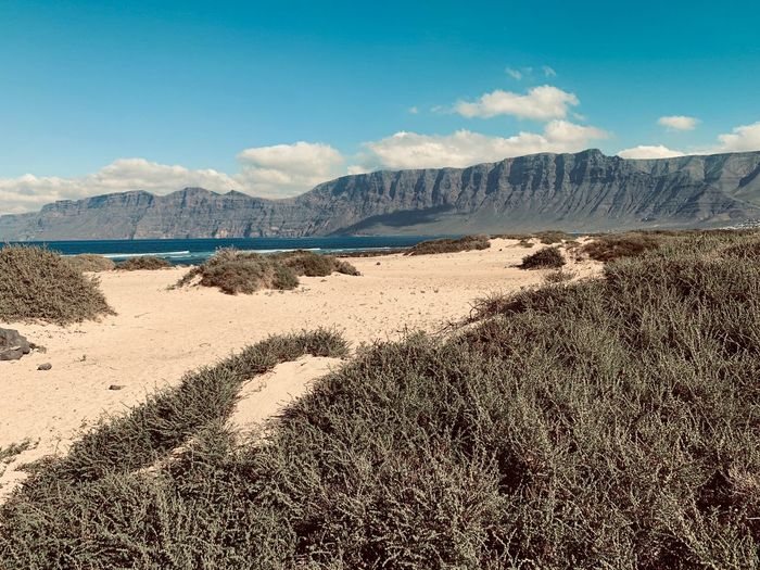 Famara, Lanzarote Famara Beach Landscape_photography Lanzarote Lanzarote Island Sky Nature Mountain Land Day Tranquility Tranquil Scene No People Sand Beach Sunlight Beauty In Nature Outdoors