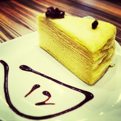 Hokaido milk millie crepe treat by the special one. Millecrepe Desert
