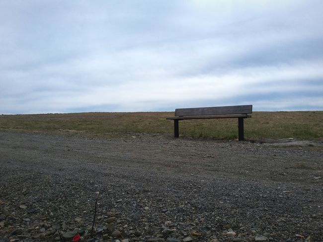 Sky Tranquility No People Day Outdoors Nature Landscape Bench Cloudy Sky Rugged Landscape Desolate Forlorn Minimalism Loneliness Finland