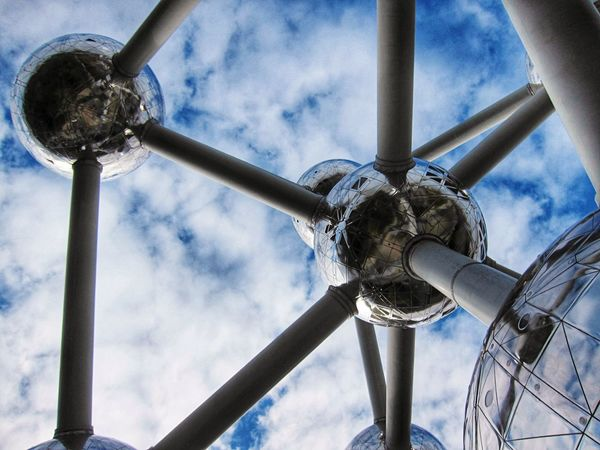 Brussels Architecture Atomium Atomiumbruxelles Cityscape Photography Low Angle View Metal Sky Day Cloud - Sky Nature Built Structure Directly Below